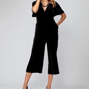 Rich Burgundy Velvet Jumpsuit Size 4/6